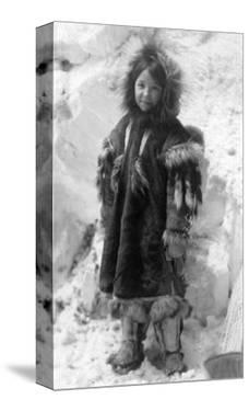 Eskimo Girl in a Parka in Nome, Alaska Photograph - Nome, AK by Lantern Press
