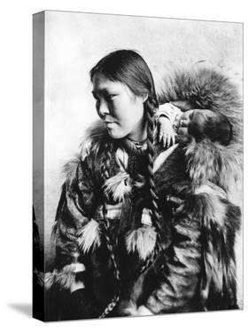 Eskimo Mother and Child in Alaska Photograph - Alaska by Lantern Press