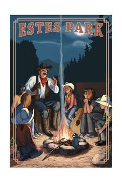 Estes Park, Colorado - Cowboy Campfire Story Telling by Lantern Press