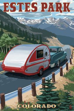 Estes Park, Colorado - Retro Camper by Lantern Press