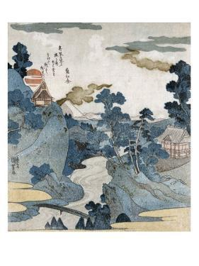 Evening View of Fuji, Japanese Wood-Cut Print by Lantern Press