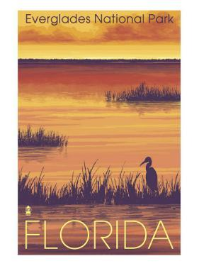 Everglades National Park, Florida, Sunset Scene by Lantern Press