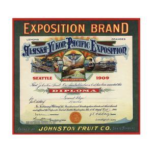 Exposition Brand - Santa Barbara, California - Citrus Crate Label by Lantern Press