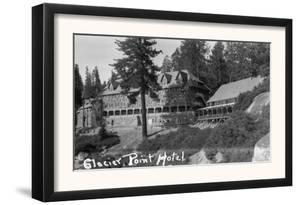 Exterior View of the Glacier Point Hotel - Yosemite National Park, CA by Lantern Press