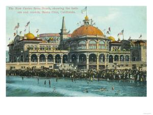 Exterior View of the New Casino from the Beach - Santa Cruz, CA by Lantern Press