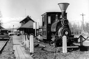 Fairbanks, Alaska View of Alaska Railroad Depot Photograph - Fairbanks, AK by Lantern Press