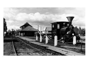 Fairbanks, Alaska - View of the Train Station by Lantern Press