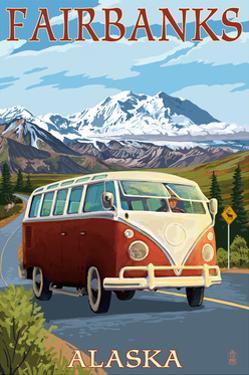 Fairbanks, Alaska - VW Van Cruise by Lantern Press