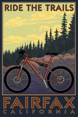 Fairfax, California - Ride the Trails by Lantern Press