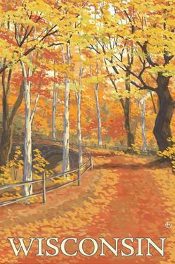 Fall Colors Scene - Wisconsin by Lantern Press