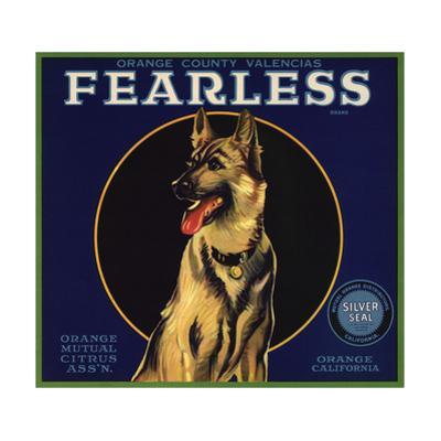 Fearless Brand - Orange, California - Citrus Crate Label by Lantern Press