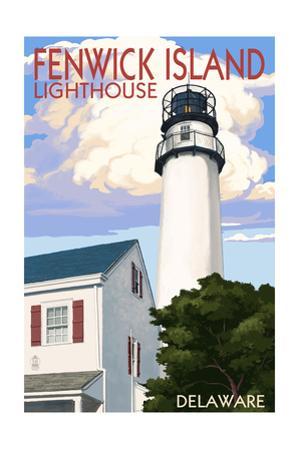 Fenwick Island, Delaware - Lighthouse by Lantern Press