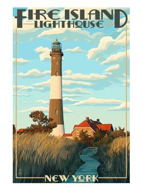 Fire Island Lighthouses - Captree Island, New York by Lantern Press