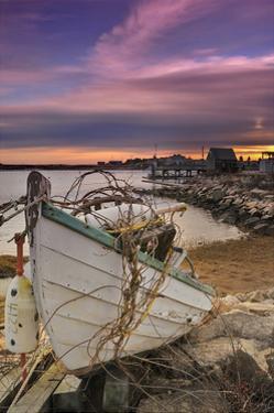 Fishing Boat on Shore by Lantern Press