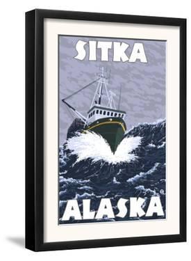 Fishing Boat Scene, Sitka, Alaska by Lantern Press