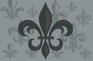 Fleur de Lis - Pattern - Gray by Lantern Press