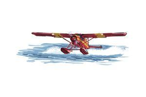 Float Plane - Icon by Lantern Press