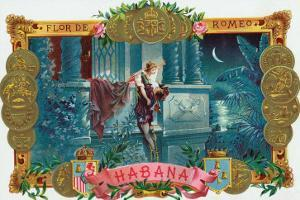 Flor de Romeo Brand Cigar Box Label, Famous Romeo and Juliet Balcony Scene by Lantern Press