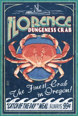 Florence, Oregon - Dungeness Crab by Lantern Press