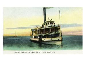Florida - Fred'k De Bary Steamer on St. John's River by Lantern Press