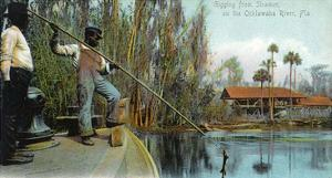 Florida - Gigging from a Ocklawaha River Steamer by Lantern Press