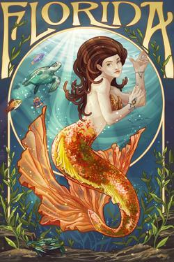 Florida - Mermaid by Lantern Press