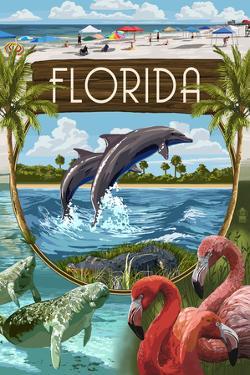 Florida - Montage by Lantern Press