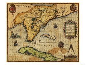 Florida - Panoramic Map by Lantern Press