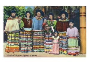 Florida - Seminole Indian Ladies by Lantern Press