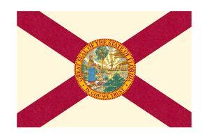 Florida State Flag by Lantern Press