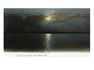 Florida - Sunset Scene on the St. John's River by Lantern Press