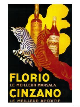 Florio Cinzano Vintage Poster - Europe by Lantern Press