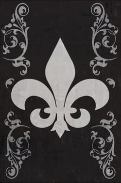 Flourish and Fleur de Lis - Black by Lantern Press