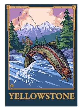 Fly Fishing Scene, Yellowstone National Park