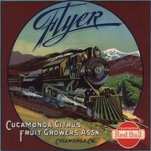 Flyer Brand - Cucamonga, California - Citrus Crate Label by Lantern Press