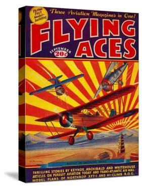 Flying Aces Magazine Cover by Lantern Press