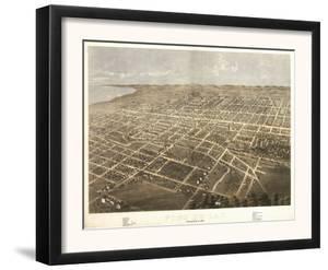 Fond du Lac, Wisconsin - Panoramic Map by Lantern Press