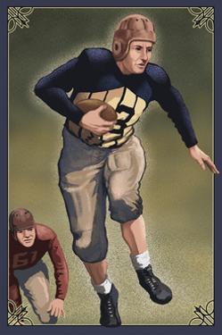 Football - Running Back by Lantern Press