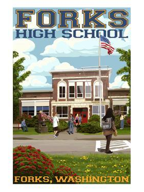 Fork High School, Washington by Lantern Press