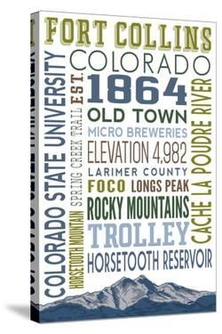 Fort Collins, Colorado - Typography by Lantern Press