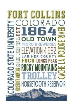 Fort Collins, Colorado - Typography by Lantern Press