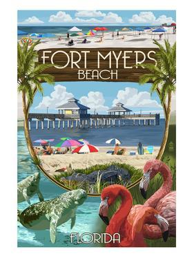 Fort Myers, Florida - Montage Scenes by Lantern Press