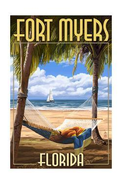 Fort Myers, Florida - Palms and Hammock by Lantern Press