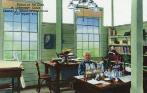 Fort Myers, Florida - T. Edison Winter Home, View of Edison at His Desk in Laboratory Office by Lantern Press