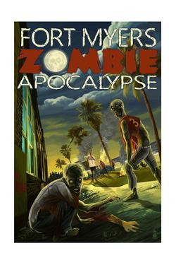 Fort Myers, Florida - Zombie Apocalypse by Lantern Press
