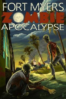 Fort Myers, Florida - Zombie Apocalypse by Lantern Press