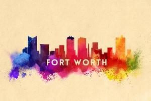 Fort Worth, Texas - Skyline Abstract by Lantern Press