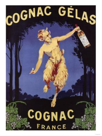France - Cognac Gelas Promotional Poster by Lantern Press