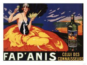 France - Fap'Anis Celui Des Connaisseurs Advertisement Poster by Lantern Press