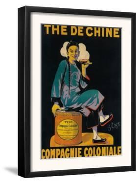 France - The De Chine, Colonial Company Promotional Poster by Lantern Press